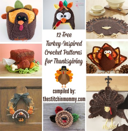 12 Free Turkey-Inspired Crochet Patterns for Thanksgiving | www.thestitchinmommy.com
