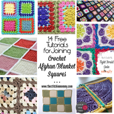 14 Free Tutorials for Joining Crochet Afghan Blanket Squares