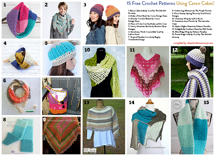 15 Free Crochet Patterns Using Caron Cakes - The Stitchin Mommy