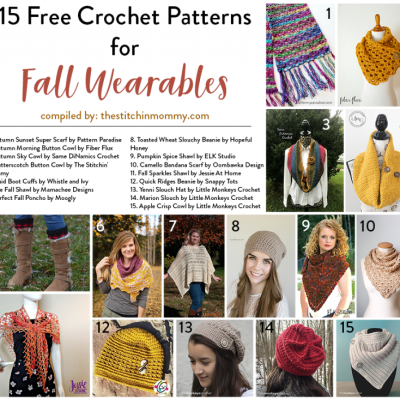 15 Free Crochet Patterns for Fall Wearables