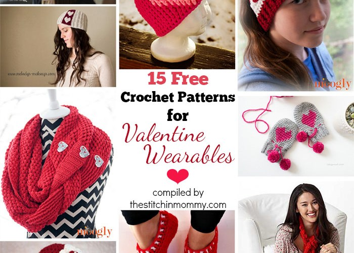 15 Free Crochet Patterns for Valentine Wearables