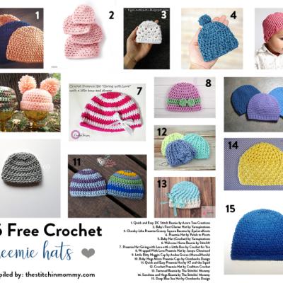 15 Free Crochet Preemie Hat Patterns
