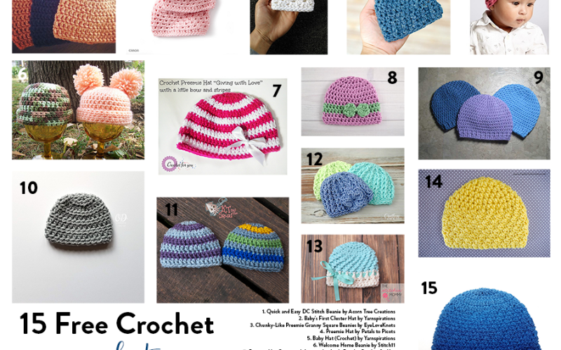 15 Free Crochet Preemie Hat Patterns