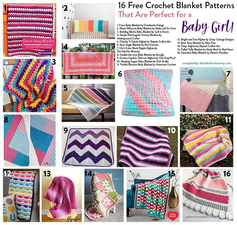 16 Free Crochet Blanket Patterns That Are Perfect For A Baby Girl