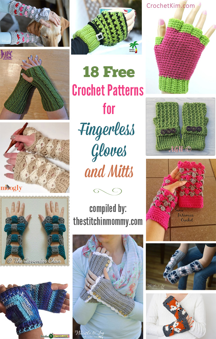 18 Free Crochet Patterns For Fingerless Gloves And Mitts The