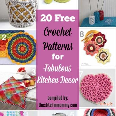 20 Free Crochet Patterns for Fabulous Kitchen Decor