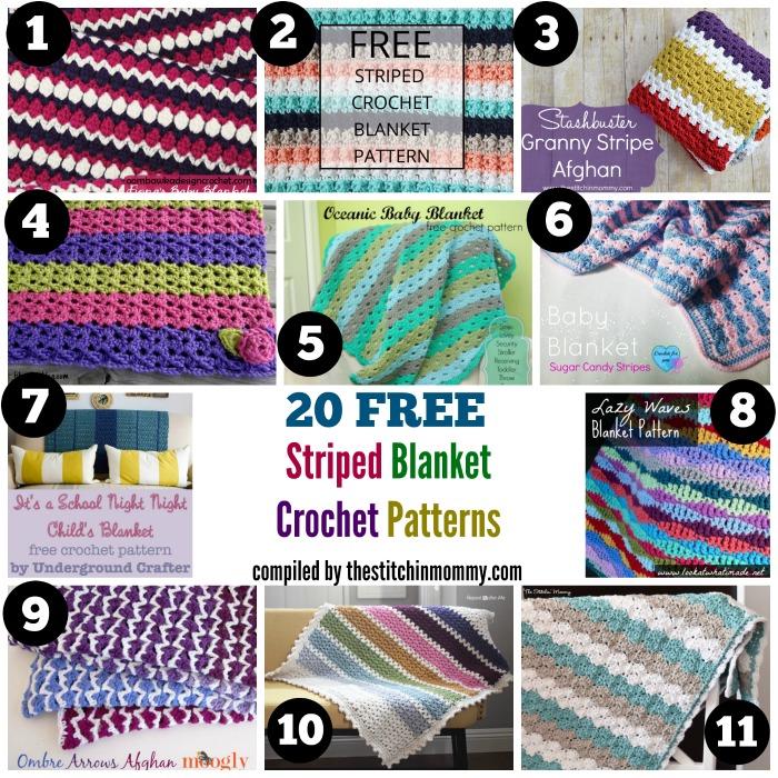 40 Free Striped Blanket Crochet Patterns The Stitchin Mommy Stunning Lazy Wave Crochet Pattern