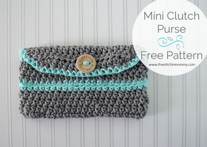 Crochet Mini Clutch Purse Free Pattern The Stitchin Mommy