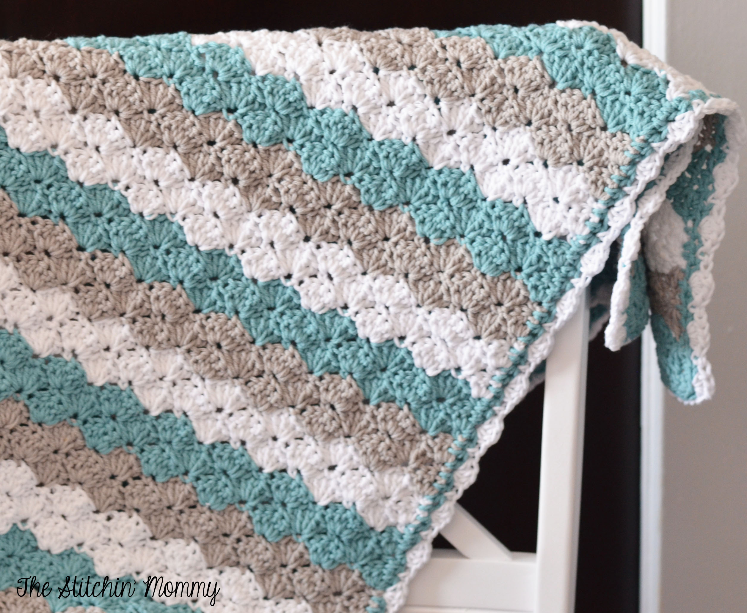 Shell Stitch Baby Blanket Free Pattern