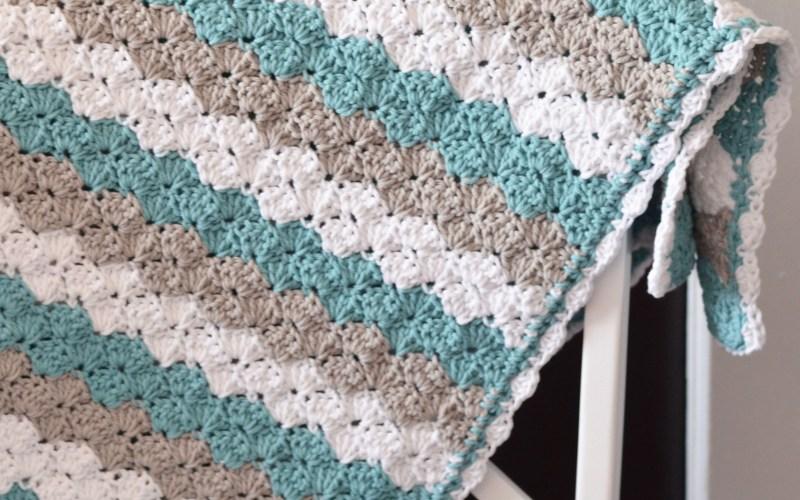 Shell Stitch Baby Blanket – Free Crochet Pattern