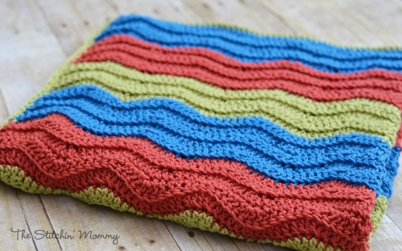Easy Crochet Ripple Blanket