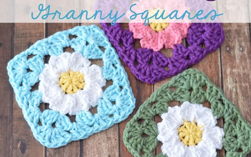 Crochet Daisy Granny Squares