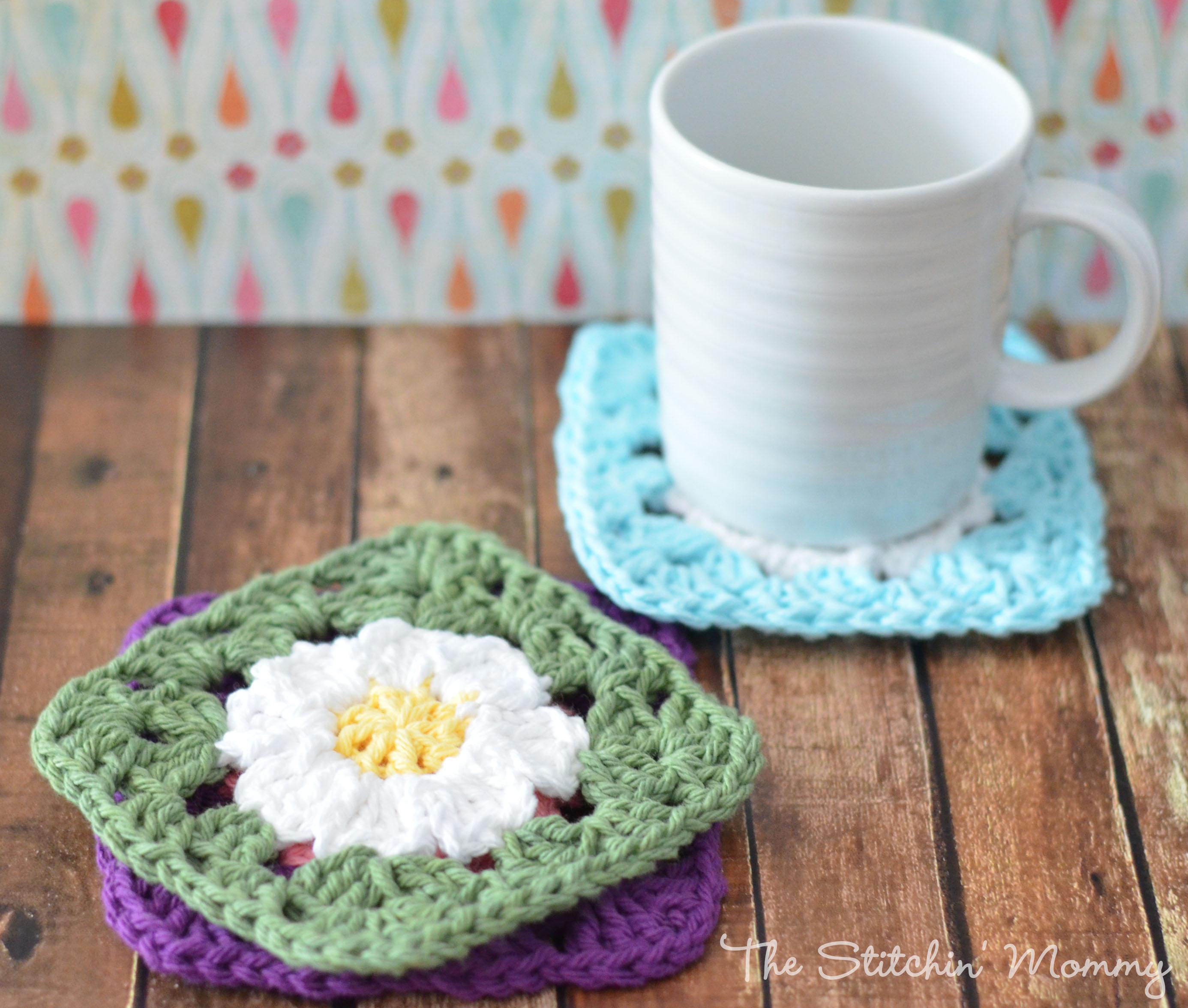 Crochet Daisy Granny Squares - The Stitchin Mommy