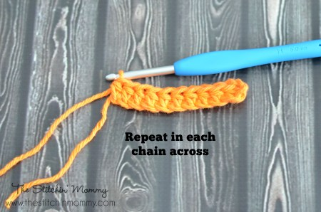 hdc8Crochet 101 - Half Double Crochet Stitch www.thestitchinmommy.com