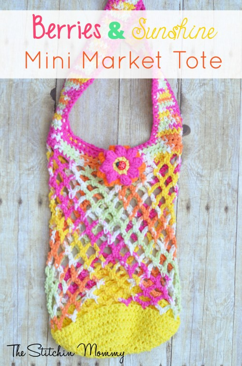 Berries and Sunshine Mini Market Tote www.thestitchinmommy.com