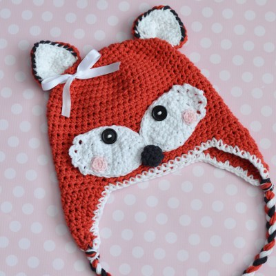 Crochet Fox Hat – All Sizes Available for Purchase