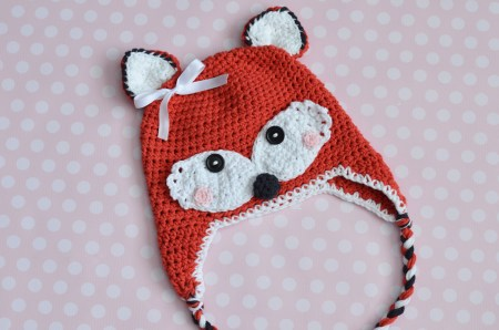 Crochet Fox Hat by The Stitchin' Mommy - 5 Sizes available now on Ravelry