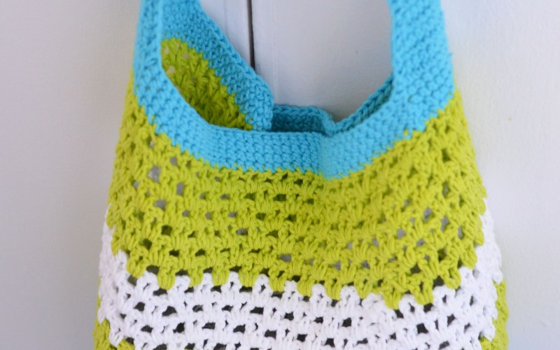 Summer Fun Market or Beach Tote – Free Crochet Pattern