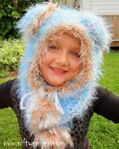 Beautiful Blue Bear Hood