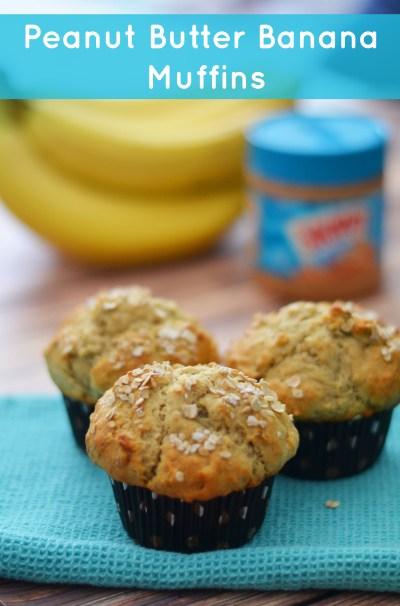 Peanut Butter Banana Muffins - Peanut Butter for Breakfast
