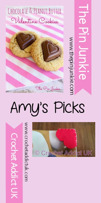 Amy's Picks  Chocolate & Peanut Butter Valentine Cookies/Valentine Bookmarks   Tuesday PIN-spiration Link Party