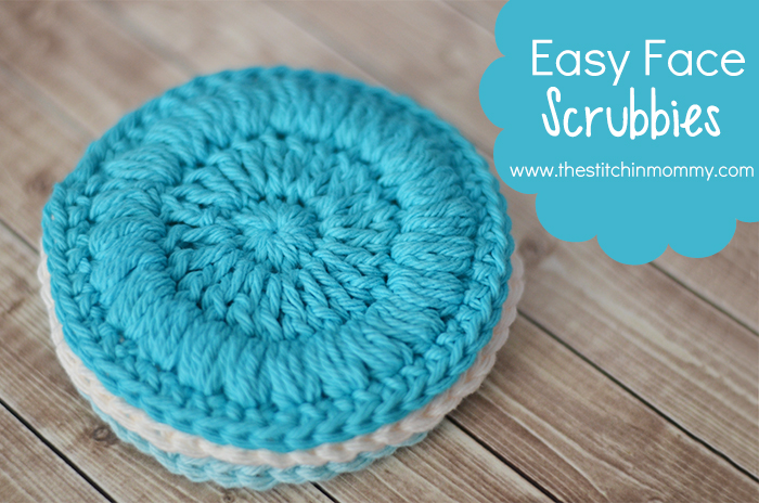 Easy Face Scrubbies - Free Pattern - The Stitchin Mommy