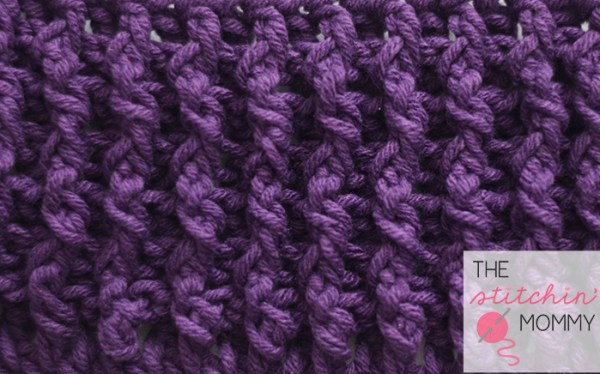 Woven Stitch Tutorial and Afghan Square | www.thestitchinmommy.com #crochet #stitch #tutorial #square #woven #afghan