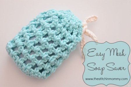 Easy Mesh Soap Saver | www.thestitchinmommy.com #soapsaver #spa #wash #bath #spaday #mesh #easy #crochet #pattern