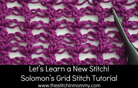 Let's Learn a New Stitch! - Solomon's Grid Stitch Tutorial   www.thestitchinmommy.com