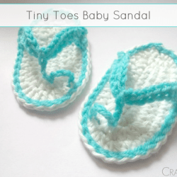 Tiny-Toes Baby Sandal - Free Pattern by Made In Craftadise for The Stitchin' Mommy | www.thestitchinmommy.com