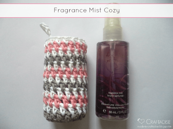 Striped Fragrance Mist Cozy by Made in Craftadise, exclusively on The Stitchin' Mommy | www.thestitchinmommy.com