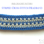 Striped Cross-Stitch Headband – Free Pattern