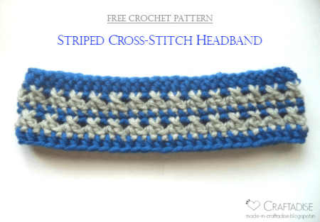 Striped Cross-Stitch Headband by Made in Craftadise, exclusively on The Stitchin' Mommy | www.thestitchinmommy.com
