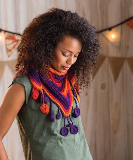 Quick Crochet Accessories (3 Skeins or Less) - Cirque Shawlette