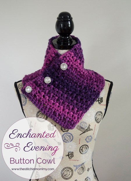 Enchanted Evening Button Cowl - Free Pattern | www.thestitchinmommy.com