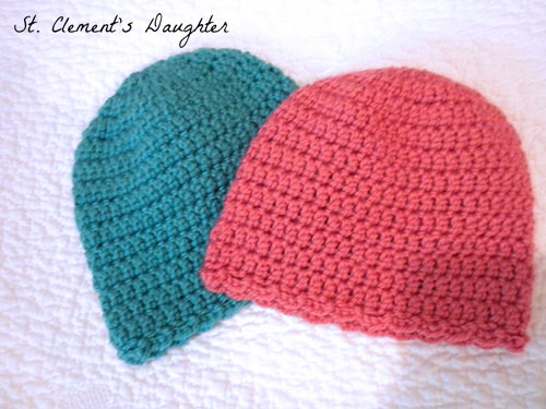 Tiny Scallops Easy Newborn Cap and Booties Set - The Stitchin Mommy c49f3f3f3a68