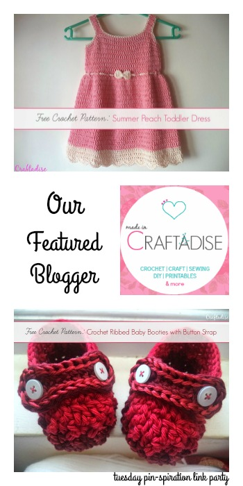 Tuesday PIN-spiration Featured Blogger: Made in Craftadise | www.thestitchinmommy.com