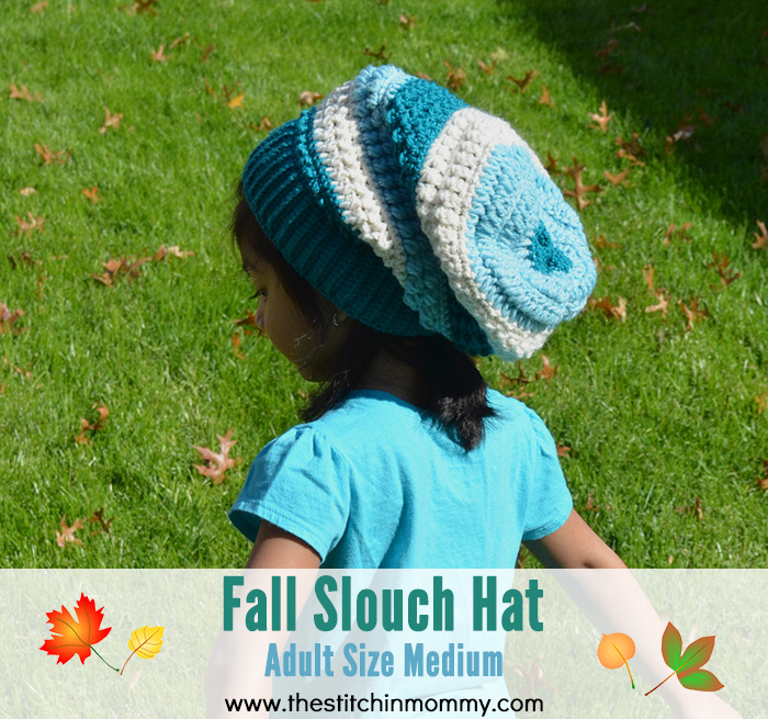 Fall Slouch Hat - Adult Size Medium | www.thestitchinmommy.com