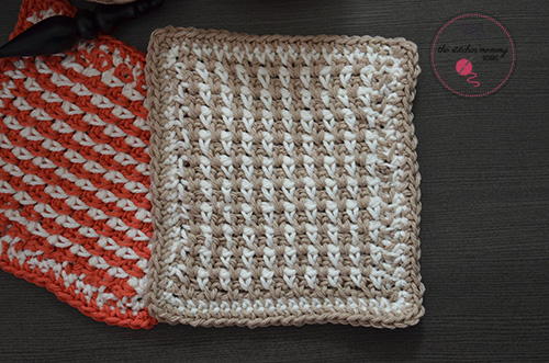 Let's Learn a New Crochet Stitch Pattern Kitchen Crochet Edition - Linen Stitch Tutorial and Dishcloth Pattern | www.thestitchinmommy.com