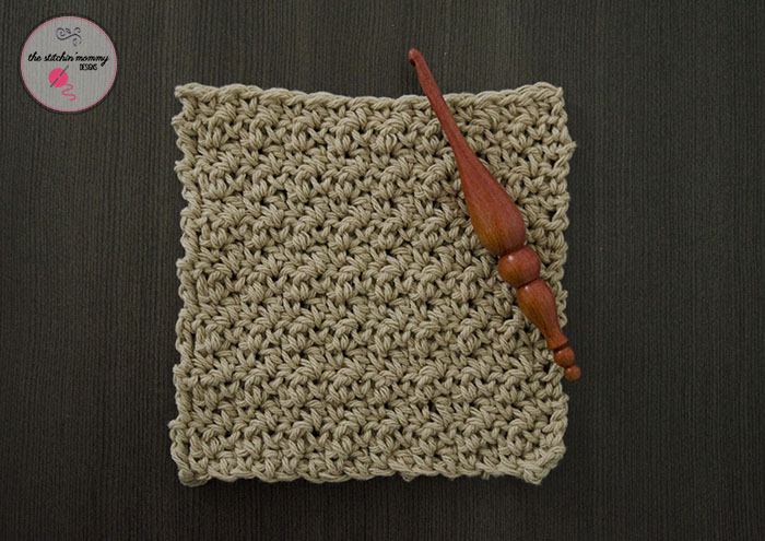 Let's Learn a New Crochet Stitch Pattern Kitchen Crochet Edition -Seed Stitch Tutorial and Dishcloth Pattern | www.thestitchinmommy.com