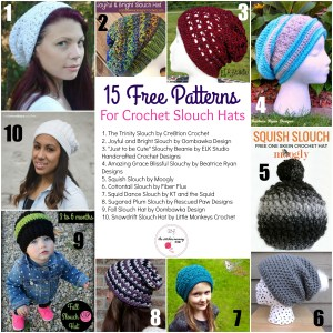 15 Free Patterns for Crochet Slouch Hats | www.thestitchinmommy.com