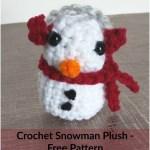 Crochet Snowman Plush – Free Pattern