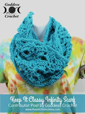 Keep It Classy Infinity Scarf - Free Pattern by Goddess Crochet for The Stitchin' Mommy | www.thestitchinmommy.com