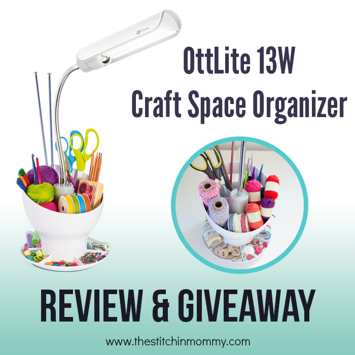 OttLite® 13W Craft Space Organizer Review and Giveaway | www.thestitchinmommy.com