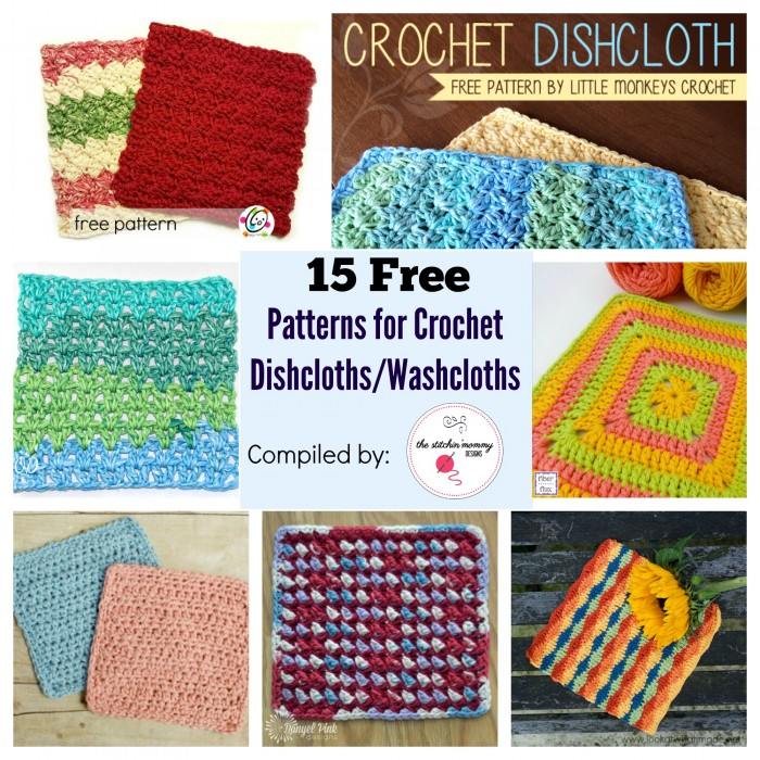 15 Free Patterns For Crochet Dishclothswashcloths The Stitchin Mommy