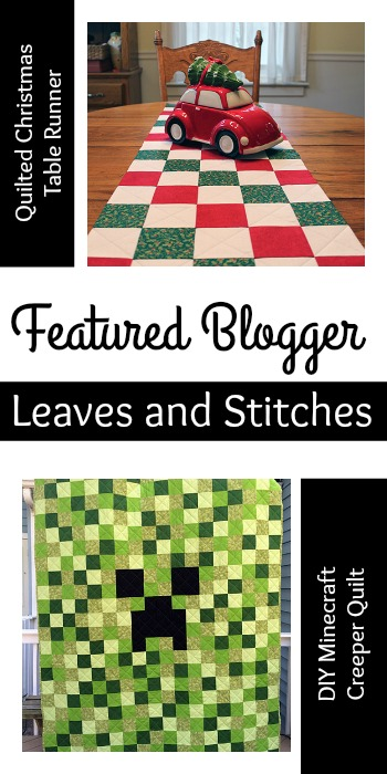 Tuesday PIN-spiration Link Party Featured Blogger - Leaves and Stitches | www.thestitchinmommy.com
