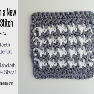 Houndstooth Stitch Tutorial and Coaster Pattern
