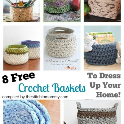 8 Free Crochet Basket Patterns To Dress Up Your Home!