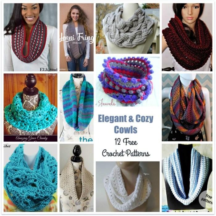 Elegant Cozy Cowls 12 Free Crochet Patterns The Stitchin Mommy