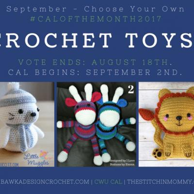 Choose Your Own CAL Adventure 2017 – September Crochet Toys